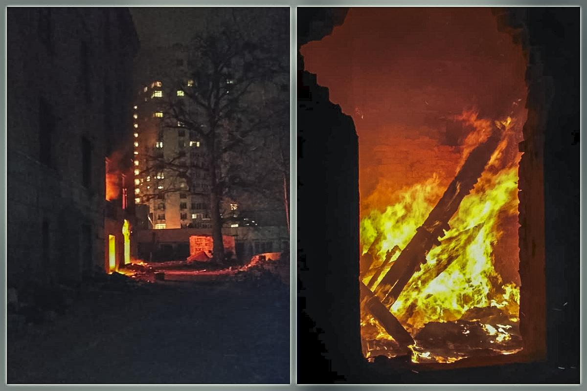 В субботу, 14 марта, в Киеве по адресу Голосеевский проспект, 70 произошел пожар