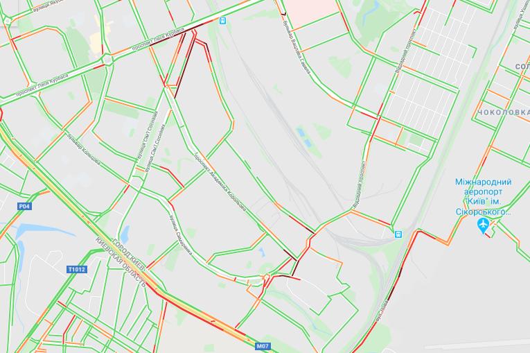 Проспект Леся Курбаса и Окружная дорога: пробки небольшие, но продолжают расти