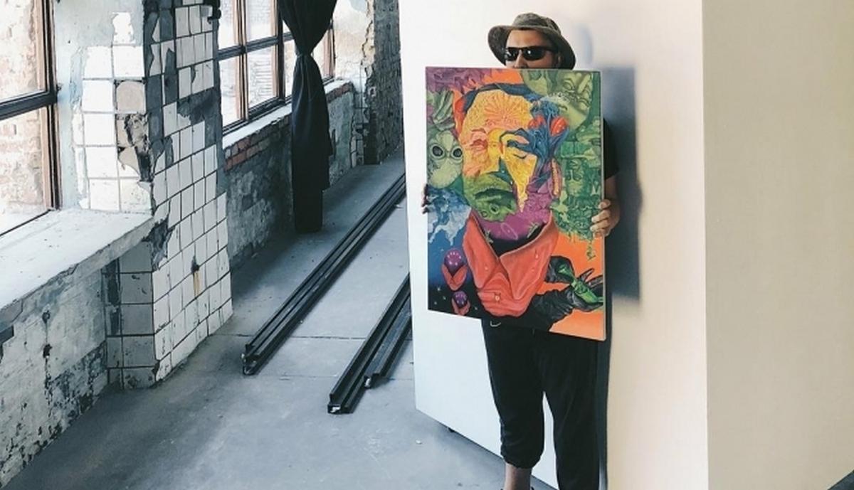Работа уличного художника Димы Фатума