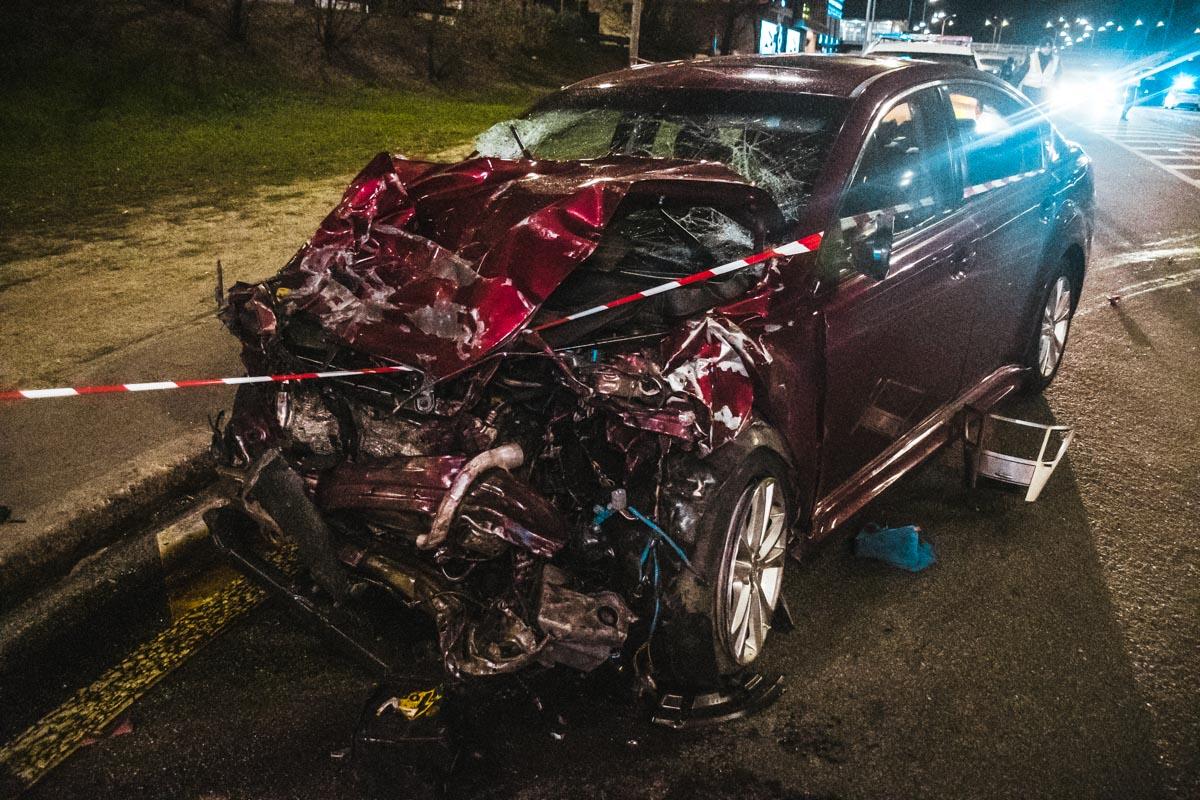 Мужчина, который был за рулем Subaru, отделался ссадинами и синяками