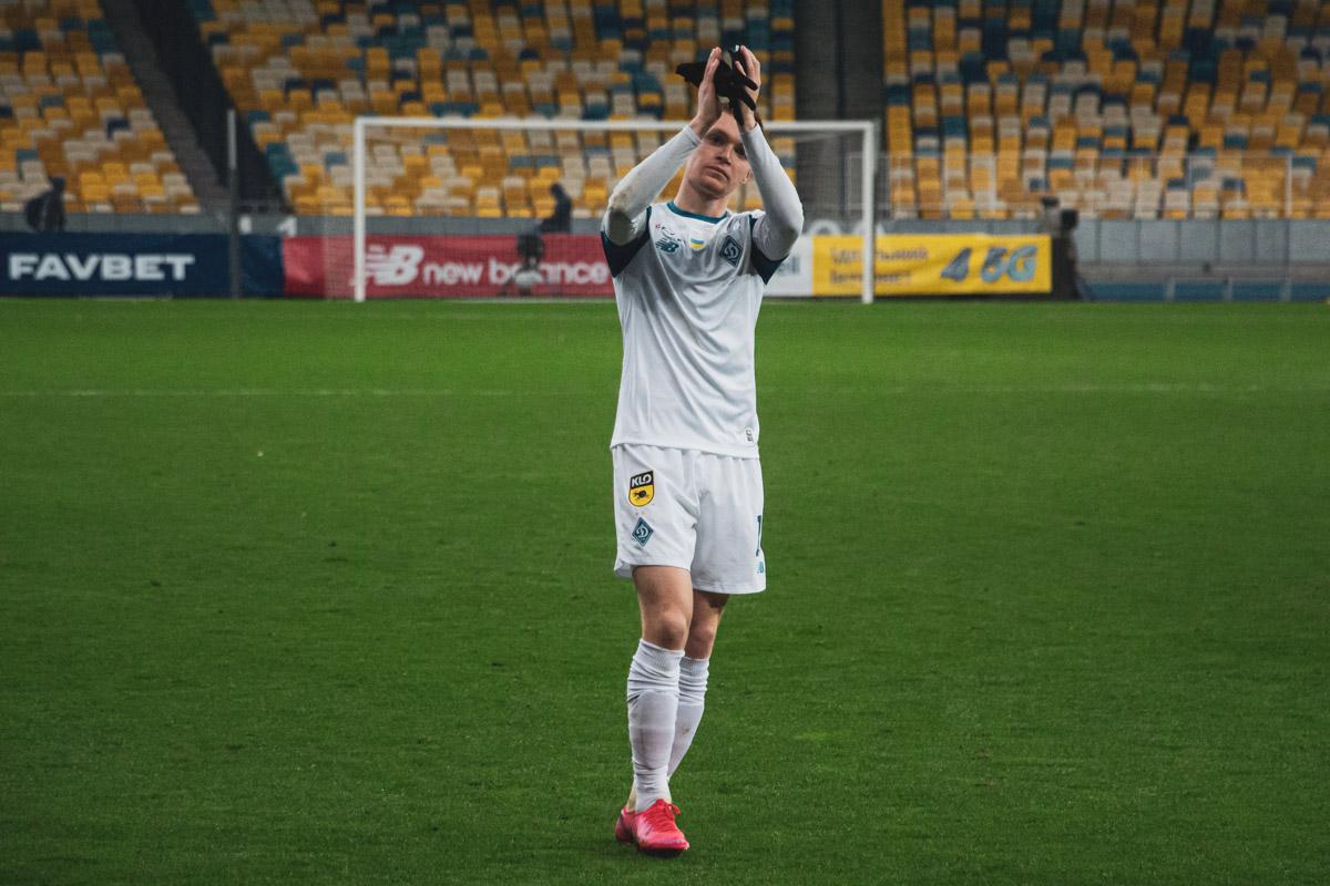 Благодарность болельщикам от автора единственного гола и героя матча - Виктора Цыганкова