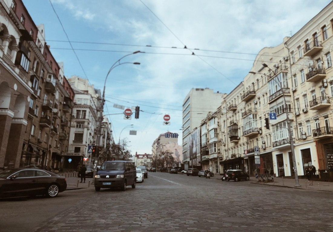 Перекресток Саксаганского и Большой Васильковской