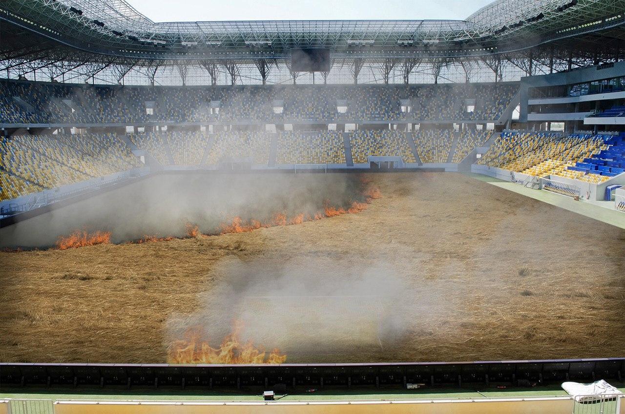 ФК« Динамо »Киев принял решение выжечь траву на своем домашнем поле