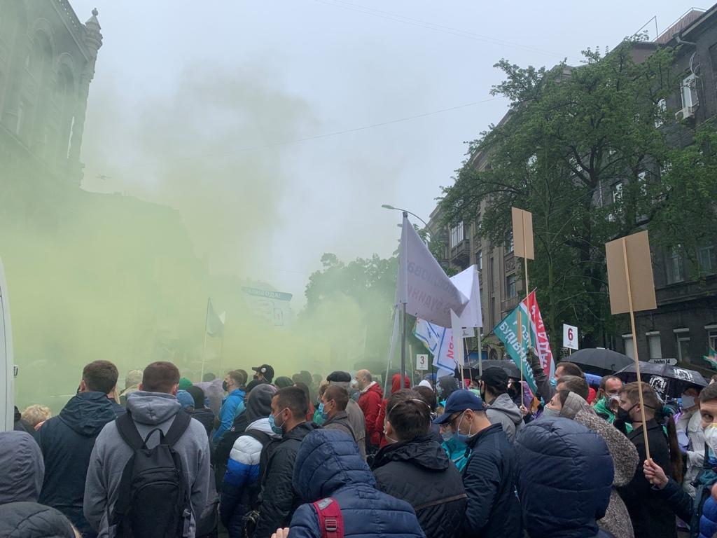 Протестующие прошли мимо НБУ